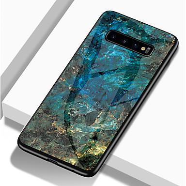 voordelige Galaxy S-serie hoesjes / covers-hoesje Voor Samsung Galaxy S9 / S9 Plus / S8 Plus Schokbestendig / Patroon Achterkant Marmer Hard TPU / Gehard glas