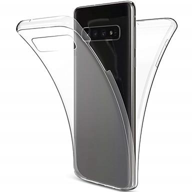 غطاء من أجل Samsung Galaxy S9 / S9 Plus / S8 Plus ضد الصدمات / نحيف جداً / شفاف غطاء كامل للجسم لون سادة ناعم TPU