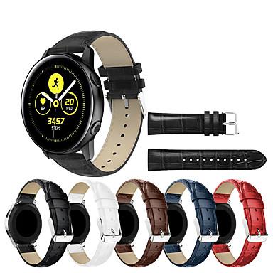Недорогие Часы для Samsung-Ремешок для часов для Gear S3 Frontier / Gear S3 Classic / Samsung Galaxy Watch 46 Samsung Galaxy Спортивный ремешок Натуральная кожа Повязка на запястье