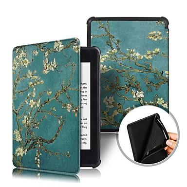 Недорогие Kindle Paperwhite-Кейс для Назначение Amazon Kindle PaperWhite 4 2018 Защита от удара / Флип / Оригами Чехол Цветы Твердый Кожа PU