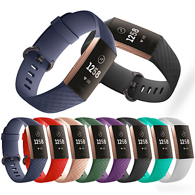 cheap Smartwatch Accessories-Watch Band for Fitbit Charge 3 Fitbit Sport Band Silicone Wrist Strap