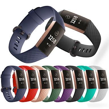 Недорогие Ремешки для спортивных часов-Ремешок для часов для Fitbit Charge 3 Fitbit Спортивный ремешок силиконовый Повязка на запястье