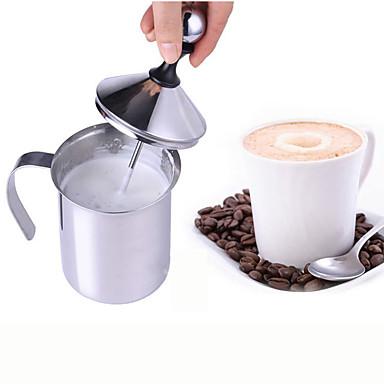 olcso Bögrék-kettős hálós tejfehérítő rozsdamentes acél tejhab cappuccino tejhez