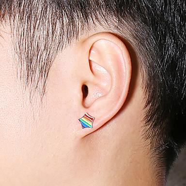 olcso Fülbevalók-Férfi Női Beszúrós fülbevalók meleg fülbevaló Díszes divatba jövő Small Rozsdamentes acél Fülbevaló Ékszerek Ezüst Kompatibilitás Esküvő Eljegyzés Farsang Utca Klub 1 pár