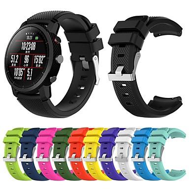 halpa Kellonrannekkeet Xiaomi-Watch Band varten Huami Amazfit A1602 / Huami Amazfit Stratos Smart Watch 2 / 2S Xiaomi Urheiluhihna Silikoni Rannehihna