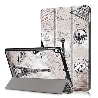 Недорогие Кейсы для iPhone-Кейс для Назначение Apple iPad Mini 5 / iPad New Air (2019) Защита от удара / Флип / С узором Чехол Пейзаж Твердый Кожа PU