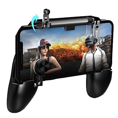 رخيصةأون اكسسوارات ألعاب الفيديو-لعبة pugb للتحكم بالألعاب المجانية free fire pub barg المقود gamepad metal l1 r1 button for iphone gaming pad