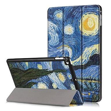 Недорогие Кейсы для iPhone-Кейс для Назначение Apple iPad Mini 5 / iPad Mini 4 Защита от удара / Флип / С узором Чехол Пейзаж Твердый Кожа PU