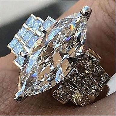 povoljno Prstenje-Žene Prsten obećanja Kubični Zirconia 1pc Obala Kamen Geometric Shape Stilski prelijeva Vjenčanje Dnevno Jewelry Klasičan Radost Cool