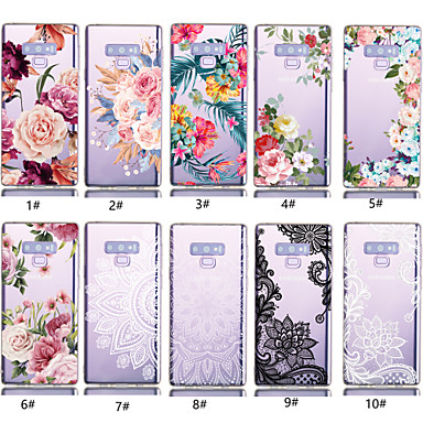 voordelige Galaxy Note-serie hoesjes / covers-hoesje Voor Samsung Galaxy Note 9 Transparant / Patroon Achterkant Bloem Zacht TPU