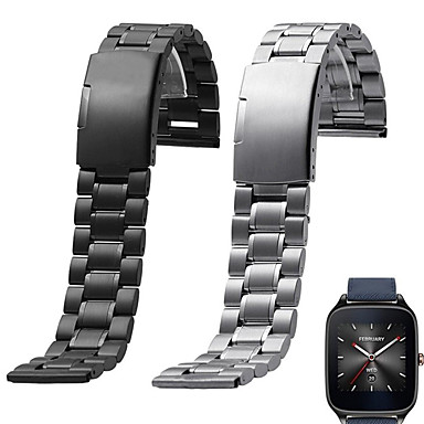 cheap Watch Band for ASUS-Watch Band for Asus ZenWatch 2 / Asus ZenWatch Asus Sport Band / Classic Buckle Metal / Stainless Steel Wrist Strap