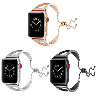 Недорогие Ремешки для Apple Watch-Ремешок для часов для Серия Apple Watch 5/4/3/2/1 Apple Современная застежка / Дизайн украшения Нержавеющая сталь Повязка на запястье