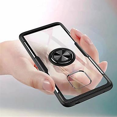 voordelige Huawei Mate hoesjes / covers-hoesje Voor Huawei Mate 10 pro / Huawei Mate 20 lite / Huawei Mate 20 pro Ringhouder Achterkant Effen Hard PC