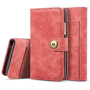 Недорогие Кейсы для iPhone 6-Кейс для Назначение Apple iPhone XS / iPhone XR / iPhone XS Max Бумажник для карт / Флип / Магнитный Чехол Однотонный Твердый Кожа PU
