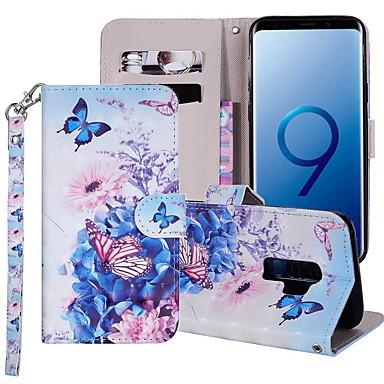 povoljno Maske za mobitele-Θήκη Za Samsung Galaxy S9 / S9 Plus / S8 Plus Novčanik / Utor za kartice / sa stalkom Korice Rukav leptir / Cvijet Tvrdo PU koža