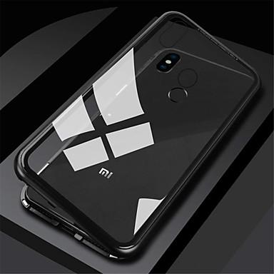 رخيصةأون Xiaomi أغطية / كفرات-غطاء من أجل Xiaomi Xiaomi Redmi Note 5 Pro / Xiaomi Redmi Note 6 / Xiaomi Redmi Note 7 مغناطيس غطاء كامل للجسم لون سادة قاسي زجاج مقوى