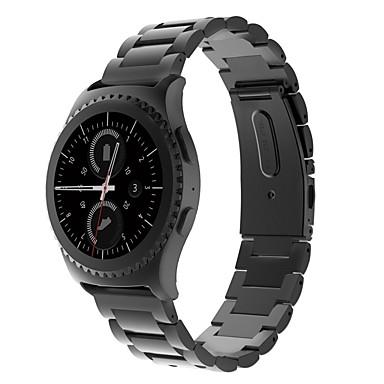 Недорогие Часы для Samsung-Ремешок для часов для Gear S2 Classic Samsung Galaxy Спортивный ремешок / Классическая застежка Нержавеющая сталь Повязка на запястье