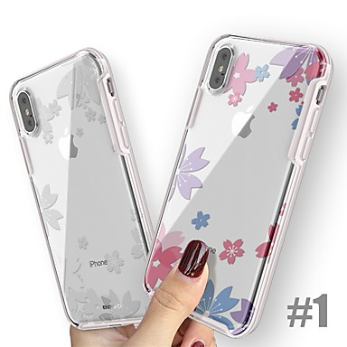 voordelige iPhone-hoesjes-hoesje Voor Apple iPhone XS / iPhone XR / iPhone XS Max Schokbestendig / Ultradun / Patroon Achterkant Cartoon / Bloem Hard TPU / PC / silica Gel