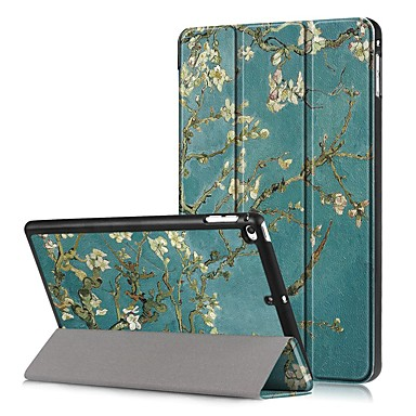 Недорогие Кейсы для iPhone-Кейс для Назначение Apple iPad Mini 5 / iPad Mini 4 Защита от удара / Флип / С узором Чехол дерево / Цветы Твердый Кожа PU