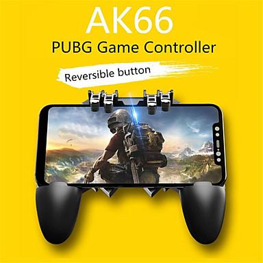 رخيصةأون اكسسوارات ألعاب الفيديو-gamepads ak66 ستة أصابع الكل في واحد تحكم لعبة الهاتف المحمول مجانا النار مفتاح زر جويستيك gamepad l1 r1 trigger for pubg
