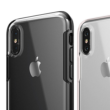 voordelige iPhone-hoesjes-hoesje Voor Apple iPhone XS / iPhone XR / iPhone XS Max Schokbestendig / Ultradun / Transparant Achterkant Transparant Hard TPU / PC / silica Gel