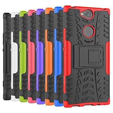 Недорогие Чехлы и кейсы для Sony-Кейс для Назначение Sony Sony XA2 Plus / Sony Xperia L3 / Sony Xperia XZ2 Premium Защита от удара / со стендом Кейс на заднюю панель броня Твердый ПК