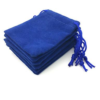 olcso Ékszer csomagolás és kiállítás-Kocka alakú Ékszertáskák - Kék 7 cm 5 cm 0.2 cm / 50db