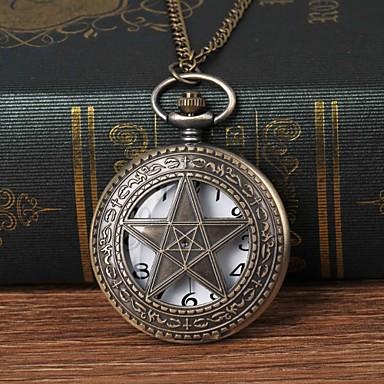 رخيصةأون ساعات الرجال-رجالي ساعة جيب كوارتز برونز ساعة كاجوال طرد كبير مماثل موضة هيكل عظمي أرسطو - برونز