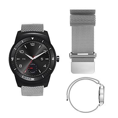 baratos Watch Bands for LG-Pulseiras de Relógio para LG G Watch W100 / LG G Watch R W110 / LG Watch Urbane W150 LG Pulseira Esportiva / Pulseira Estilo Milanês Aço Inoxidável Tira de Pulso