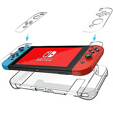 cheap Nintendo Switch Accessories-Cooho Nintendo Switch transparent crystal case Host handle protection case NS transparent PC case