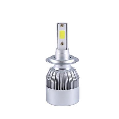 Недорогие Автомобильные фары-2pcs Автомобиль Лампы COB Светодиодная лампа Налобный фонарь Назначение 2018