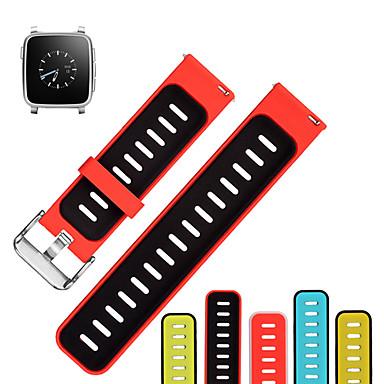 voordelige Smartwatch-accessoires-Horlogeband voor Pebble Time / Pebble Time Steel Pebble Sportband Silicone Polsband