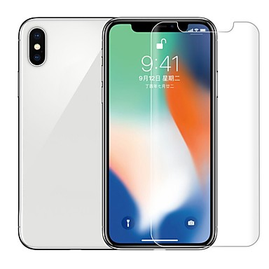 voordelige iPhone screenprotectors -AppleScreen ProtectoriPhone XS Max High-Definition (HD) Achterkantbescherming 1 stuks Gehard Glas