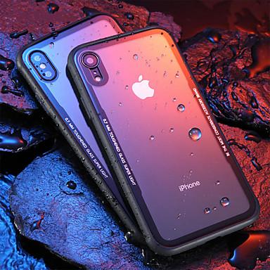 Недорогие Кейсы для iPhone 6 Plus-Кейс для Назначение Apple iPhone XS / iPhone XR / iPhone XS Max Защита от удара / Ультратонкий / Прозрачный Кейс на заднюю панель Прозрачный Твердый Закаленное стекло