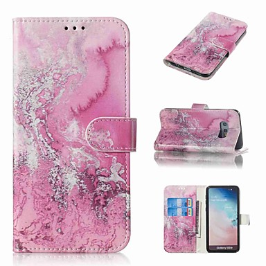 Недорогие Чехлы и кейсы для Galaxy S-Кейс для Назначение SSamsung Galaxy S9 / S9 Plus / S8 Plus Кошелек / Бумажник для карт / Флип Чехол Мрамор Твердый Кожа PU