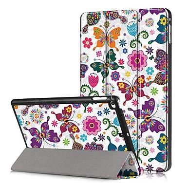 Недорогие Кейсы для iPhone-Кейс для Назначение Apple iPad Mini 5 / iPad Mini 4 Защита от удара / Флип / С узором Чехол Бабочка Твердый Кожа PU