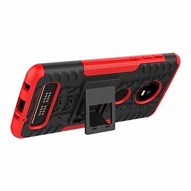 Недорогие Чехлы и кейсы для Motorola-Кейс для Назначение Motorola Moto Z4 play / Moto G7 Play Защита от удара / со стендом Кейс на заднюю панель броня Твердый пластик