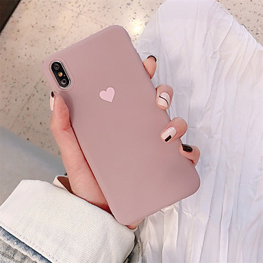 cheap iPhone Cases-Case For Apple iPhone XR / iPhone XS Max Pattern Back Cover Heart Soft TPU for iPhone X XS 8 8PLUS 7 7PLUS 6 6S 6PLUS 6S PLUS