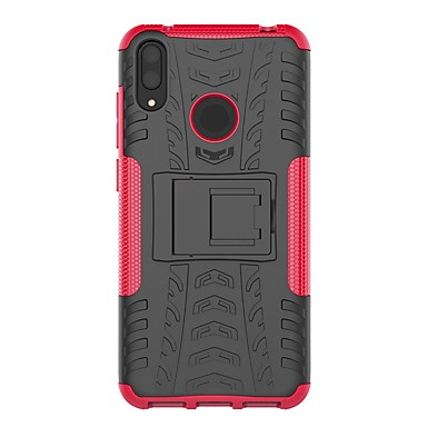 رخيصةأون Huawei أغطية / كفرات-غطاء من أجل Huawei Huawei P Smart 2019 / Huawei Y9 (2018)(Enjoy 8 Plus) / Huawei Y7 Pro (2019) ضد الصدمات / مع حامل غطاء خلفي درع قاسي الكمبيوتر الشخصي