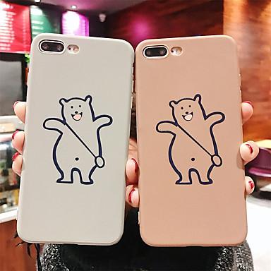 voordelige iPhone-hoesjes-hoesje voor apple iphone xr / iphone xs max patroon / frosted achterkant cartoon soft tpu voor iphone 6 6 plus 6s 6s plus 7 8 7plue 8 plus x xs
