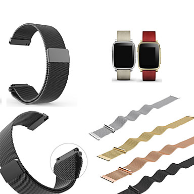 voordelige Smartwatch-accessoires-Horlogeband voor Pebble Time / Pebble Time Steel Pebble Sportband / Milanese lus Roestvrij staal Polsband