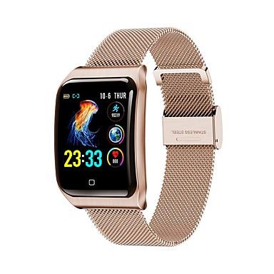 povoljno Pametni satovi-f9 pametni sat bt čelik nehrđajući fitness tracker podrška obavijesti / monitor brzine otkucaja sporta sport smartwatch kompatibilan s Apple / Samsung / android telefonima
