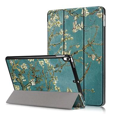 Недорогие Кейсы для iPhone-Кейс для Назначение Apple iPad Mini 5 / iPad New Air (2019) Защита от удара / Флип / С узором Чехол Цветы Твердый Кожа PU