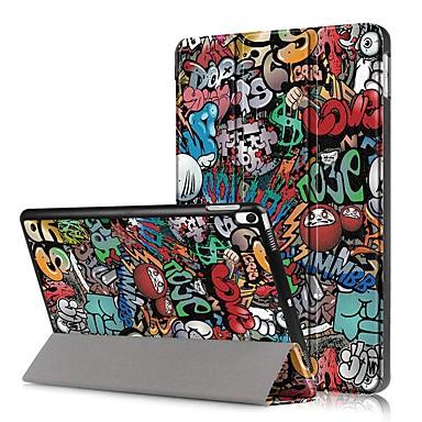 Недорогие Кейсы для iPhone-Кейс для Назначение Apple iPad Mini 5 / iPad New Air (2019) Защита от удара / Флип / С узором Чехол Слова / выражения Твердый Кожа PU