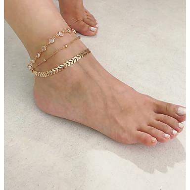 olcso Lábujj ékszerek-Női Testékszer 22 cm Toe Ring / Comblánc / láb ékszerek Arany / Ezüst Ötvözet Jelmez ékszerek Kompatibilitás Parti / Ajándék / Napi Nyár