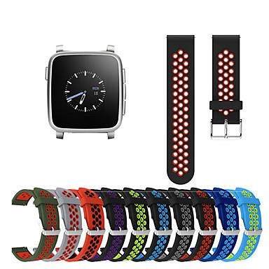 voordelige Smartwatch-accessoires-Horlogeband voor Pebble Time Round / Pebble Time / Pebble Time Steel Pebble Sportband Silicone Polsband
