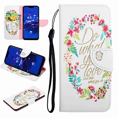 voordelige Huawei Y-serie hoesjes / covers-hoesje Voor Huawei Honor 9 / Honor 8 / Huawei Honor 7 Kaarthouder / met standaard / Flip Volledig hoesje Woord / tekst / Cartoon Hard PU-nahka