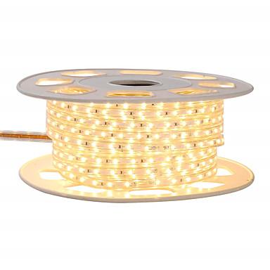 رخيصةأون شرائط ضوء مرنة LED-Kwb 4 متر تألق ديكور أضواء led قطاع 220vflexible للماء أضواء حبل 5050 10 ملليمتر 240 المصابيح للداخلية المحيطة الإضاءة التجارية الديكور