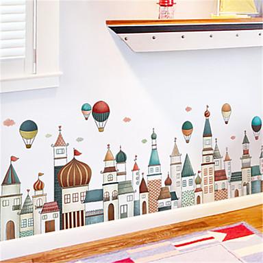 الأوروبي العمارة القلعة اللوح الجدار ملصق الكرتون للأطفال غرفة المعيشة غرفة نوم الممر حلية ملصقات