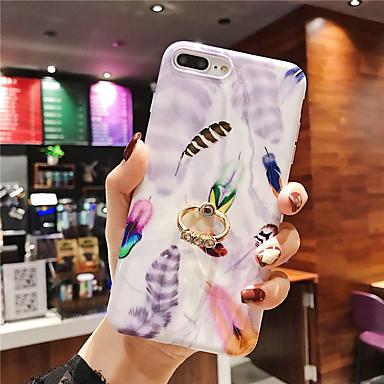 Недорогие Кейсы для iPhone 6 Plus-чехол для яблока iphone xr / iphone xs max pattern / imd / с подставкой задняя крышка перья мягкое тпу для iphonex xs 8 8plus 7 7plus 6 6plus 6s 6splus